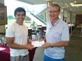 Longest drive winner: Leon Koh