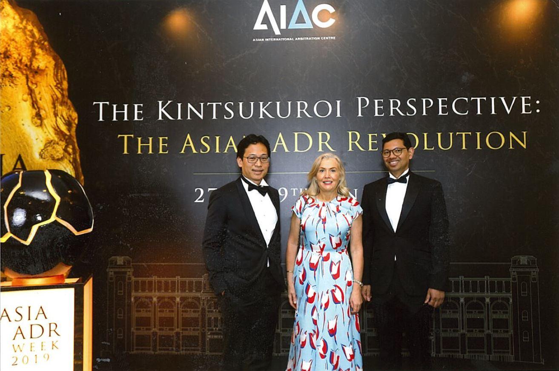 From Left to Right:  Foo Joon Liang (Chairman CIArb Malaysia), Caroline Kenny QC (Chairman CIArb Australia) & Paul Sandosham (Chairman CIArb Singapore).